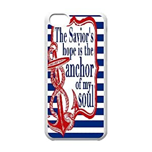 Qxhu The Faithful Anchor Quotes Hard Plastic Cover Case for Iphone 5C