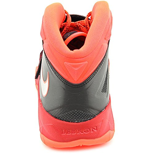 Nike Mens Zoom Soldier Vii Pp Pallacanestro Nero / Argento Metallico / Palestra Rosso / Luminoso Cremisi