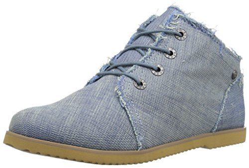 Womens Boots Canvas (BEARPAW Women's Claire Chukka Boot, Denim, 8 M US)