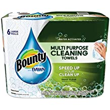 Bounty Paper Towel - White - Durable, Residue-free - For Multipurpose - 6/Carton