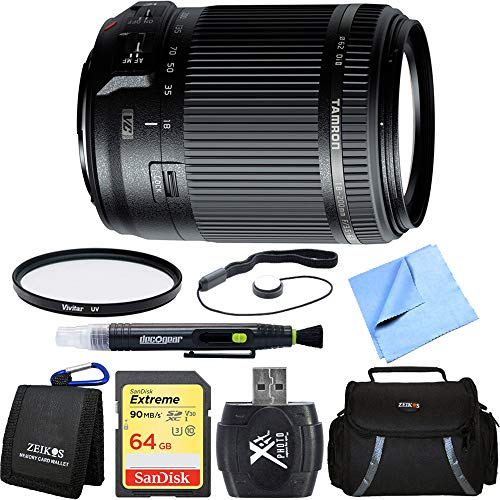- Tamron 18-200mm Di II VC All-In-One Zoom Lens for Canon Mount includes Bonus Vivitar Multicoated UV Protective Filter and More