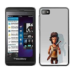 Be Good Phone Accessory // Dura Cáscara cubierta Protectora Caso Carcasa Funda de Protección para Blackberry Z10 // Comic Caveman Snow 3D