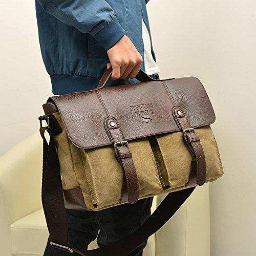 Bandolera Outreo de Viaje Tela para Messenger Vintage para Bolsas Mujer Bag Hombre Bolso Beige Sport Laptop Bolso Escolares Casual Colegio Bolsos 55qwrzf