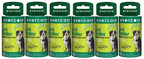 Evercare Pet Hair Lint Roller Refills 6PACK (30.1 ft x 4