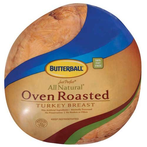 Butterball Just Perfect All Natural Oven Roasted Turkey Breast, 8 Pound -- 2 per case.