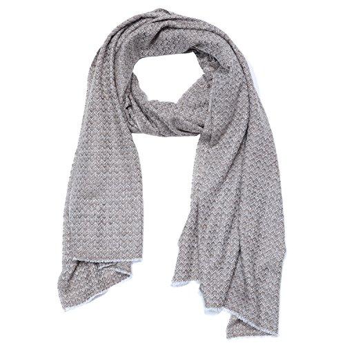 Cashmina House zigzag classic scarf | Cashmere Pashmina | 100% Authentic Hand-Combed Luxurious, Softest & Warmest Scarves | Beautifully Crafted & Stylish Finish by Cashmina House (Image #1)