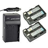 DSTE® 2x NP-400 Rechargeable Li-ion Battery + DC11 Travel and Car Charger for Konica Minolta A-5 A-7 Digital Dimage A1 A2 Dynax 5D 7D Maxxum 5d 7d Camera as Pentax D-LI50