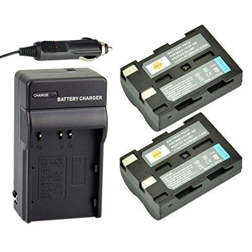 DSTE Replacement for 2X NP-400 Rechargeable Battery + DC11 Travel and Car Charger Compatible Konica Minolta A-5 A-7 Digital Dimage A1 A2 Dynax 5D 7D Maxxum 5d 7d Camera as Pentax D-LI50