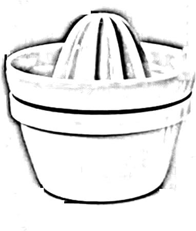 Exprimidor De ZAIYI Exprimidor De Cerámica Exprimido Manualmente Exprimidor De Zumo De Naranja De Limón Jugo De Máquina De Jugo De Bebé, White: Amazon.es