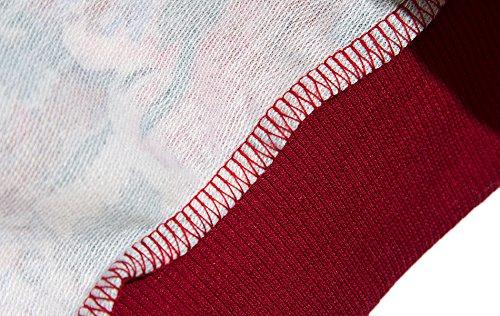 YICHUN mujeres niñas 'Tops camisetas Pullovers Thin jerséis Sudaderas Flower 5#