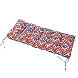LNC Tufted Indoor Seat Cushions Outdoor Patio Bench Cushion Ikat Red