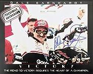 Facsimile Autographed Dale Earnhardt Victory