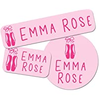 Custom Girl Combo Label Pack (88 ct.) - Waterproof Name Stickers - Stick-On & Easy to Apply (Ballet)