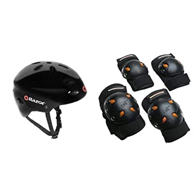 Razor V-17 Youth Multi-Sport Helmet Bundle : Sports & Outdoors [5Bkhe1100740]