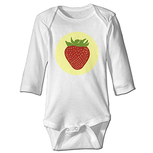 Itongquy Cute Strawberry Fashion Newborn Baby Suit Climb(Long Sleeve) 12 Months (Die Laughing Mask)
