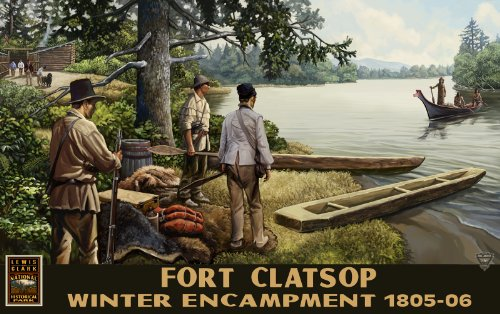 Northwest Art Mall Lewis and Clark National Historic Park Indians Unframed Prints by Paul A Lanquist, 11-Inch by - Mall Lewis