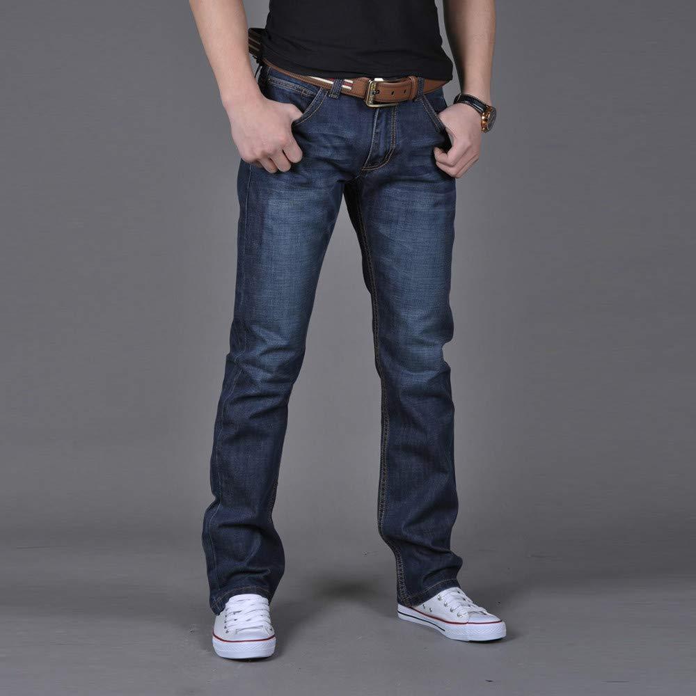 Jeanshosen TEBAISE Herren Jeans Denim Hose Slim Fit Straight