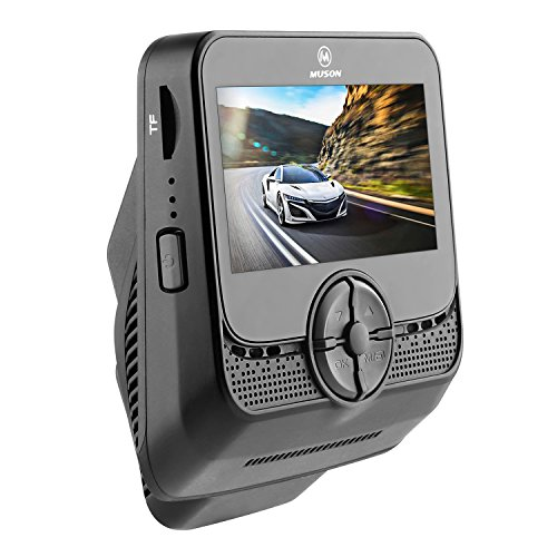 Muson MB2 Car Dash Cam 2.4'' LCD FHD Car Dashboard Camera DVR Recorder With 170° Wide Angle View Lens, WDR, Built-in WiFi, Loop Recording, G-sensor, Night Vision - Black
