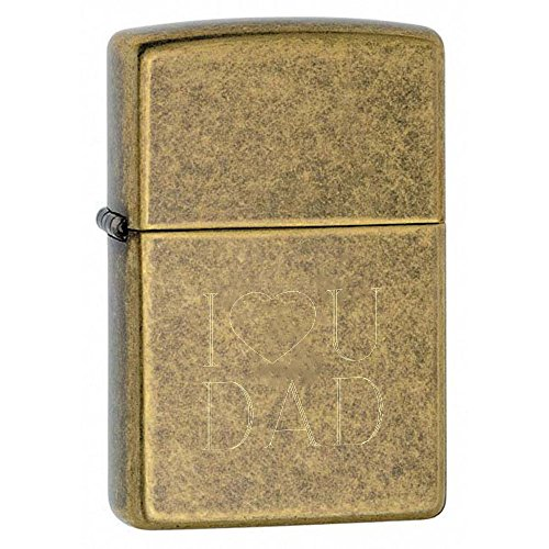 Personalized Zippo Antique Brass Fathers Day Lighter