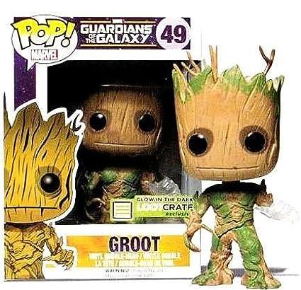 Funko POP Vinyl Marvel Guardians of the Galaxy Groot Glow In The Dark Exclusive