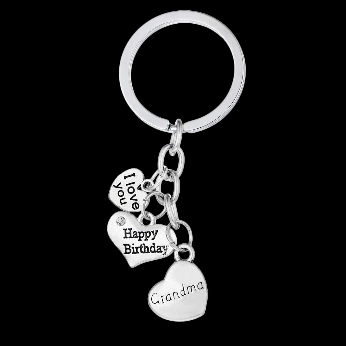 Bling StarsI love you to the moon and back Heart Keychain