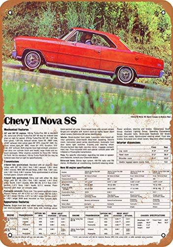 - CustomClub Iron Painting Signs Home Decor 7 X 10 Metal Sign 1967 Chevrolet Chevy II Nova SS Vintage Look 2