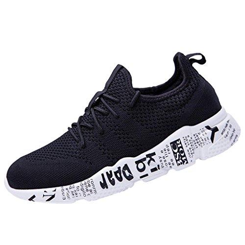 Uomo Ginnastica Scarpe Scarpe Sportive Scarpe da Punta Corsa Anti Uomo Nero da Challenge Rotonda A Slittamento Sneakers da Unisex Xq1x7f