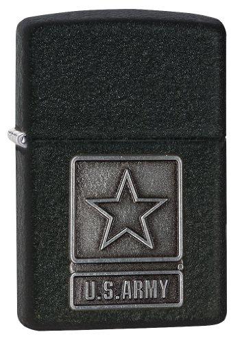 - Zippo 1941 US Army Pewter Emblem black crackle Windproof Lighter
