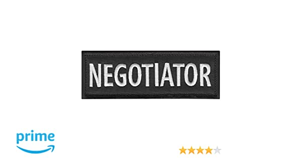 NEGOTIATOR 5x2 Body Armor Plate CarrierTactical Vest Embroidery Touch Fastener Patch
