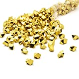 Mikash Acrylic Gems Ice Crystal Rocks for Vase Fillers, Party Table Scatter, Wedding, Photography, Party Tion, Crafts by, 3 LBS (Approx 580-600 gems) - Gold | 3 LB Bag | Model WDDNG - 1981
