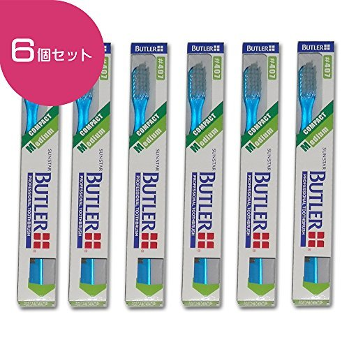 (Butler Toothbrush #407 6 Count (Made in Japan))
