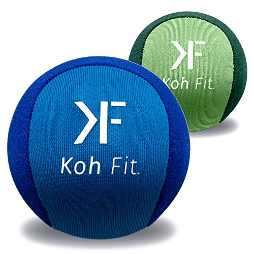 Koh Fit Stress Balls by (2 Pack) | Perfect for Hand Exercise, Physical Therapy & Natural Stress Relief | Gel Squeeze Balls | Grip Strengthener, Finger Exerciser & Fidget Toy (Squeeze Ball)