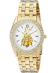 Disney Womens Princess Belle Quartz Metal and Stainless Steel Casual Watch, Color:Gold-Toned (Model: WDS000239)