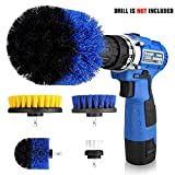 Drill Brush Set 4 Piece Power Scrubber Drill Brush Cleaning Kit for Bathroom,Toilet,Kitchen,Floor,Tile,and Grout