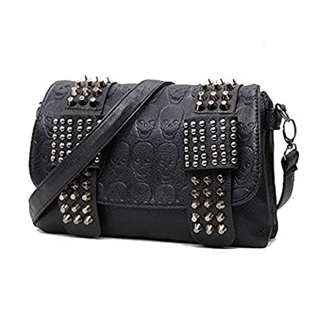luxury handbags women bag designer pu leather women's bag rivet chain messenger shoulder bags female (Nike Goddess Necklace)