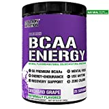 Evlution Nutrition BCAA Energy - High Performance, Energizing Amino Acid Supplement for Muscle Building, Recovery, and Endurance, 25 Servings (Natural Orchard Grape)