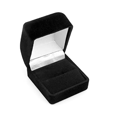 Amazoncom Black Flocked Ring Gift Box Jewelry Display Jewelry