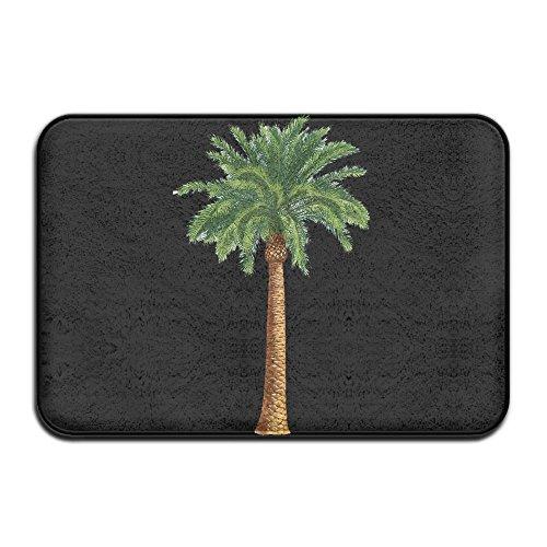 (DDDHN Tropical Palm Tree Doormat Entrance Mat Floor Mat Rug Indoor/Outdoor/Front Door/Bathroom Mats Rubber Non Slip )