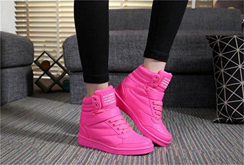 H-Mastery Women s High zu Helfen, Die Schuhe Flach - Boden Sportschuhe Rot