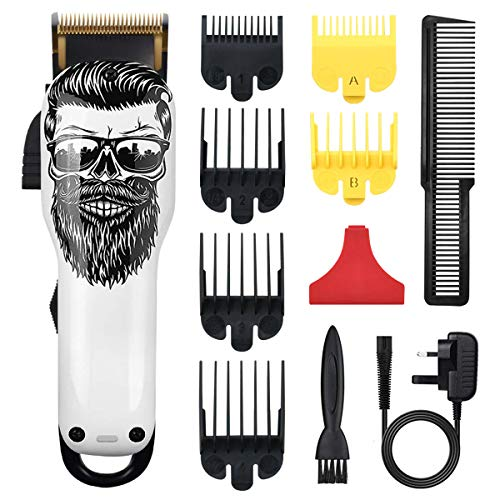 Cosyonall Professional Cordless Hair Clippers Electric Hair Cutter Machine Kit Rechargeable Wireless Hair Grooming Trimmers Set with 6Pcs Guide Combs for Men Kids Babies Family Home
