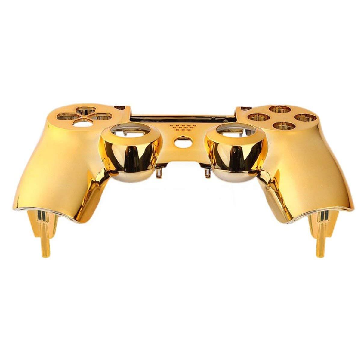 Plating Oberschale Shell Fall-Abdeckung für PS4 Dualshock-Controller 4 kühlen Aussehen leicht Gefühl ersetzen Bellaluee