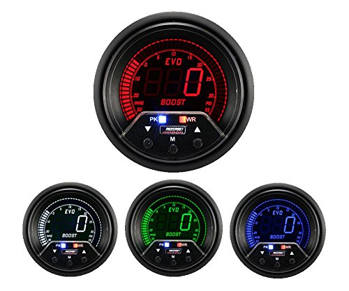 Boost Gauge- Electrical Digital Green/white/red/blue Premium EVO Series 60mm (2 3/8 ()