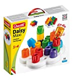 Quercetti Geokid Daisy Maxi - 21 Piece Beginning Stacking & Sorting Pegboard for Ages 1 and Up (Made in Italy)