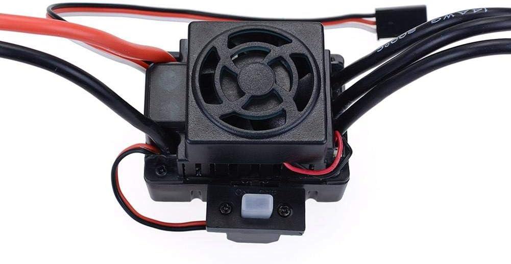Wasserdicht 3650 2300//3100//3900 KV Brushless Motor Mit 60A ESC Combo Set F/ür Alle 1//10 Brushless Autos