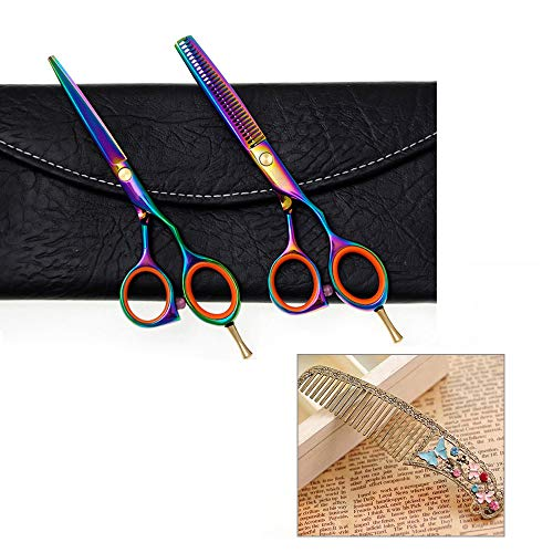 EYX Formula TONI&GUY Professional Barber Scissors Hair Scissors Shears,Hairdressing tool Hair Thinning &Regular scissors Set with Free Comb for Cutting