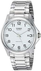 CASIO 19084 MTP-11 - Reloj Caballero cuarzo brazalete metálico dial blanco