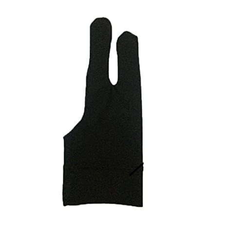 Two Finger Anti-fouling Glove Drawing/&Pen Graphic Tablet Pad For Artist Black hi