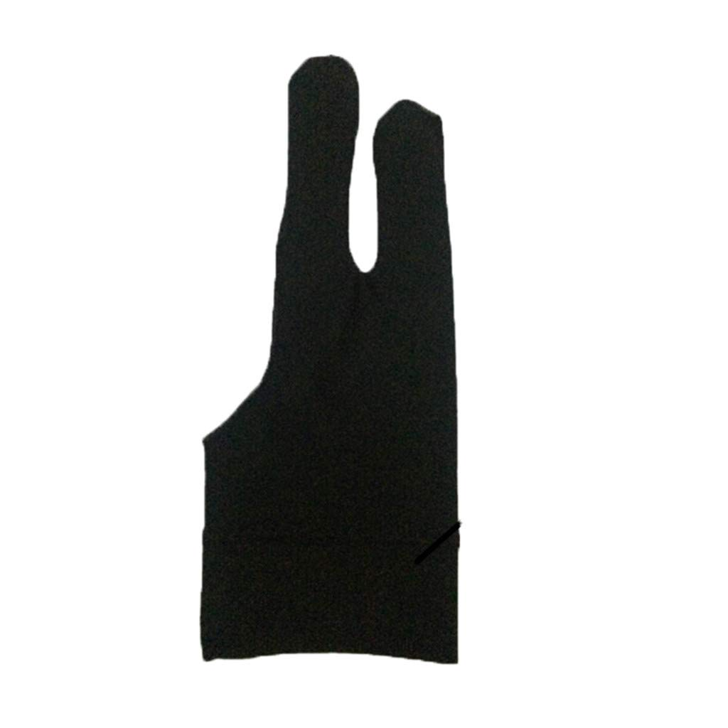 MChoice❤️Two Finger Anti-fouling Glove Drawing & Pen Graphic Tablet Pad for Artist Black (B)