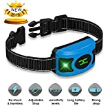 AMDIEU Rechargeable Anti Dog Bark Collar, Waterproof, Dog Bark Collar, Multiple Modes Train Large Medium Small Dogs Humanely with LED Breathing Light & Screen