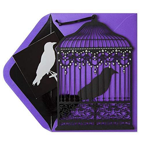 Beautiful Greeting Card Halloween Party Ingrid K. Ziegler Laser-Cut Hanging Birdcage Mysterious Halloween Card -